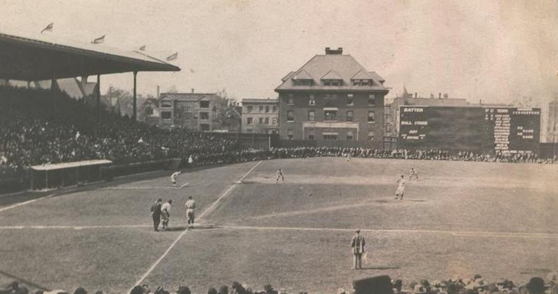 1914 Weeghman Park left field