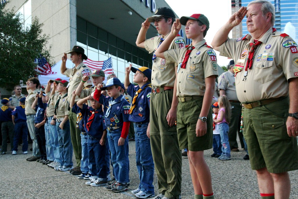 Scouts salute
