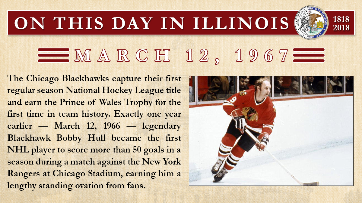 March 11, 1967: The Chicago Blackhawks capture their first regular season National Hockey League title