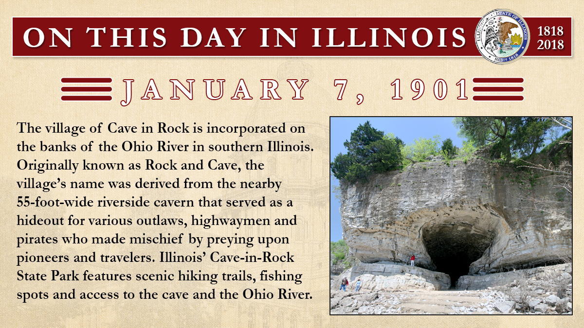 Jan. 7, 1901 - The village of Cave in Rock is incorporated