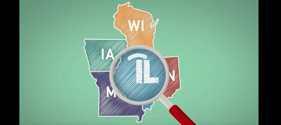 Illinois has lower tax rates than neighboring states