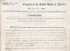 Did You Know? Illinois was the first to ratify the 13th Amendment on this day in 1865